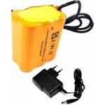 - Bateria Farol Bike Usb 6x18650 52800 Mah 8.4v Usb + Case