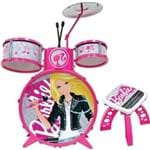 Bateria Infantil Barbie Fabulosa Instrumentos Musicais - Fun