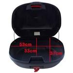 Bau Bauleto 47 Litros Givi Monolock e 470 NT Simply - Givi Lente Vermelha