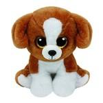 Beanie Babies - Snicky Cachorro Marrom e Branco