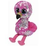 Beanie Boos Paete Médio Pinky Flamingo Cor de Rosa - DTC