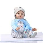 Bebe Reborn Menino 55 Cm de Silicone Real - Recem Nascido