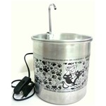 Bebedouro para Gatos Gato Online Alumínio Natural 1700 Ml com Filtro
