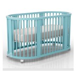 Berço Crescer Azul Turquesa Sleeper