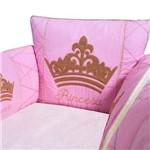 Berço Portátil Princesa Luxo Rosa