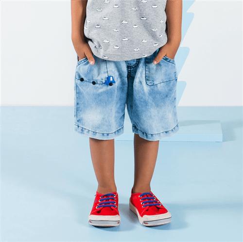 Bermuda Carinho Divertido Jeans/3 e 4