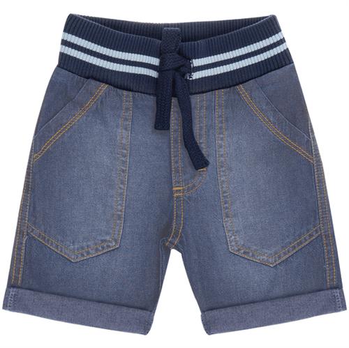 Bermuda Cata-Vento Infantil Jeans Médio 06