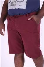 Bermuda Color Plus Size Vinho 50