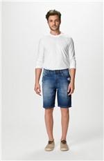 Bermuda Comfort Jeans Sustentável Malwee Azul Escuro - 52