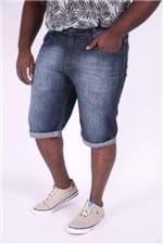 Bermuda Jeans Barra Virada Plus Size 52