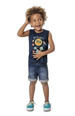 Bermuda Jeans Comfort Menino Malwee Kids Azul Marinho - 3