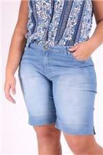 Bermuda Jeans Delavê Plus Size 46