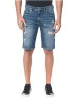 Bermuda Jeans Five Pockets - Azul Médio - 38