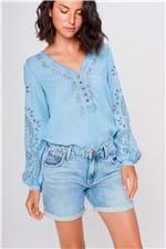 Bermuda Jeans Solta Feminina