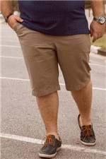 Bermuda Sarja Lisa Bolso Plus Size Bege G