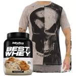 Best Whey 900g + Camiseta Tshirt Black Skull Bw !!