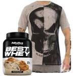 Best Whey 900g + Camiseta Tshirt Skull Bw !!