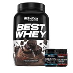 Best Whey 900g + Creatina 100% Pure 150g + Glutamina 100g- Atlhetica