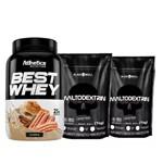 Best Whey 900g - Inove Nutrition (1 Potes)+ Maltodextrina 1kg- Black Skull (2 Potes)!!