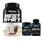 Best Whey Banana 900g + Bcaa 60 Caps + Creatina 100g