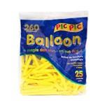 Bexiga Pic Pic Palito Balloon 260 Amarela - 25 Unidades