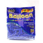 Bexiga Pic Pic Palito Balloon 260 Azul Escuro - 25 Unidades