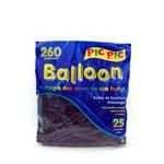 Bexiga Pic Pic Palito Balloon 260 Preta - 25 Unidades