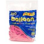 Bexiga Pic Pic Palito Balloon 260 Rosa Forte - 25 Unidades