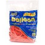 Bexiga Pic Pic Palito Balloon 260 Vermelha - 25 Unidades