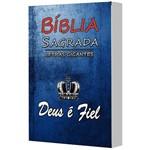 Bíblia com Letras Gigantes e Capa Personalizada Deus é Fiel