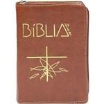 Biblia de Aparecida Media - Ziper Marrom