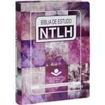 Bíblia de Estudo NTLH Grande Rosa Ilustrada
