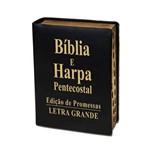 Biblia Letra Grande com Harpa Luxo Preta