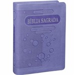 Biblia Lt Gde Capa Couro Violeta - Ntlh045lg - Sbb