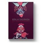 Bíblia Nvt - Letra Grande - -indian Flowers Vinho