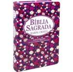 Bíblia RC Letra Gigante com Harpa Semi Flexível Florida Pink
