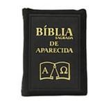 Bíblia Sagrada de Aparecida com Capa de Ziper Simples na Cor Preta | SJO Artigos Religiosos