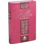 Biblia Sagrada - Letra Gigante - Pink Floral - Sbb