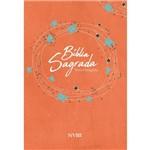 Bíblia Sagrada NVI Média Capa Brochura Laranja