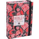 Bíblia Sagrada - Possui um Caderno para Anotações - Rosas