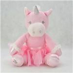 Bichinho Pelúcia Unicórnio Bailarina Rosa Zip Toys