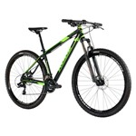 Bicicleta 29 Kode Active Shimano 15 Preta com Verde