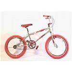 Bicicleta Aro 20 Cromada Bmx