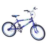 Bicicleta Aro 20 Cross Onix Pintada C/aero Selim e Mesa na Cor Azul