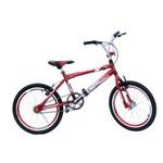 Bicicleta Aro 20 Cross Wendy Pintada C/aero Selim e Mesa na Cor Vermelho