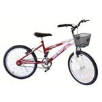 Bicicleta Aro 20 Fem Wendy Mtb Convencional Verm