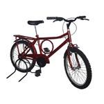 Bicicleta Aro 20 New Bike Barra Forte Infantil Vermelha Retro