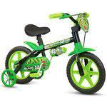 Bicicleta Aro 12 Infantil Masculina Assento Macio Black 12