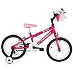 Bicicleta Aro 16 Houston Tina com Bolsa e Capacete - Rosa
