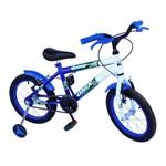 Bicicleta Aro 16 Masc Onix com Roda Al e Acessorios na Cor Azul